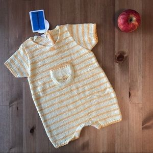 Clayeux NWT Cousu d'amour yellow knit romper